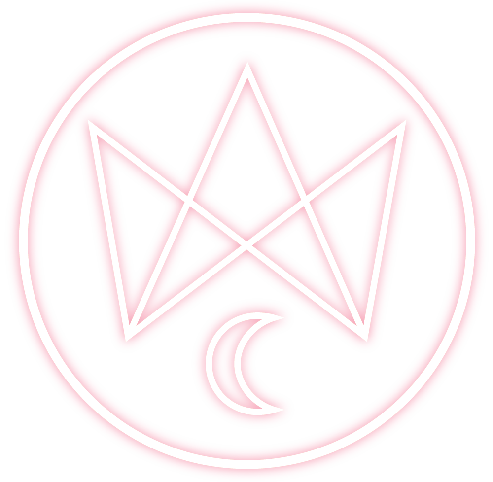 Cat and the Queen - Circle Logo -- Pink